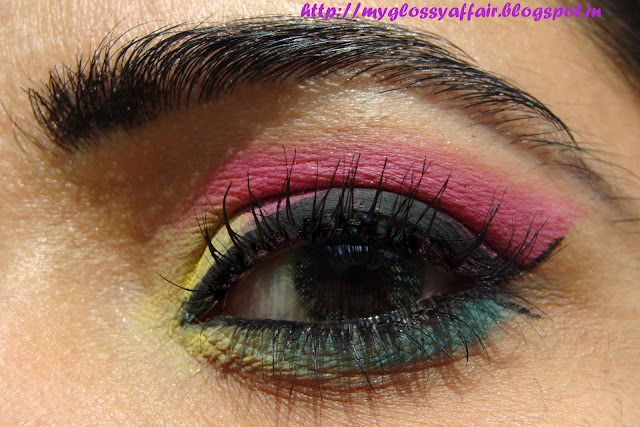 A Sunny Eye Makeup - Pink, Green, Yellow