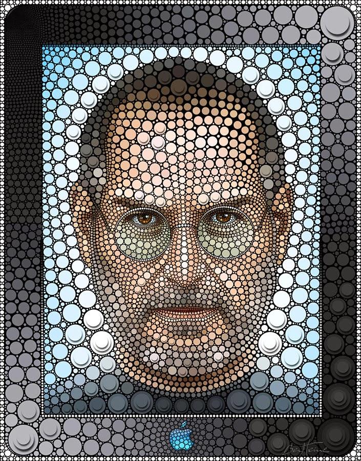 10-Steve-Jobs-Ben-Heine-Painting-&-Sculpture-Digital-Circlism-Portraits-www-designstack-co