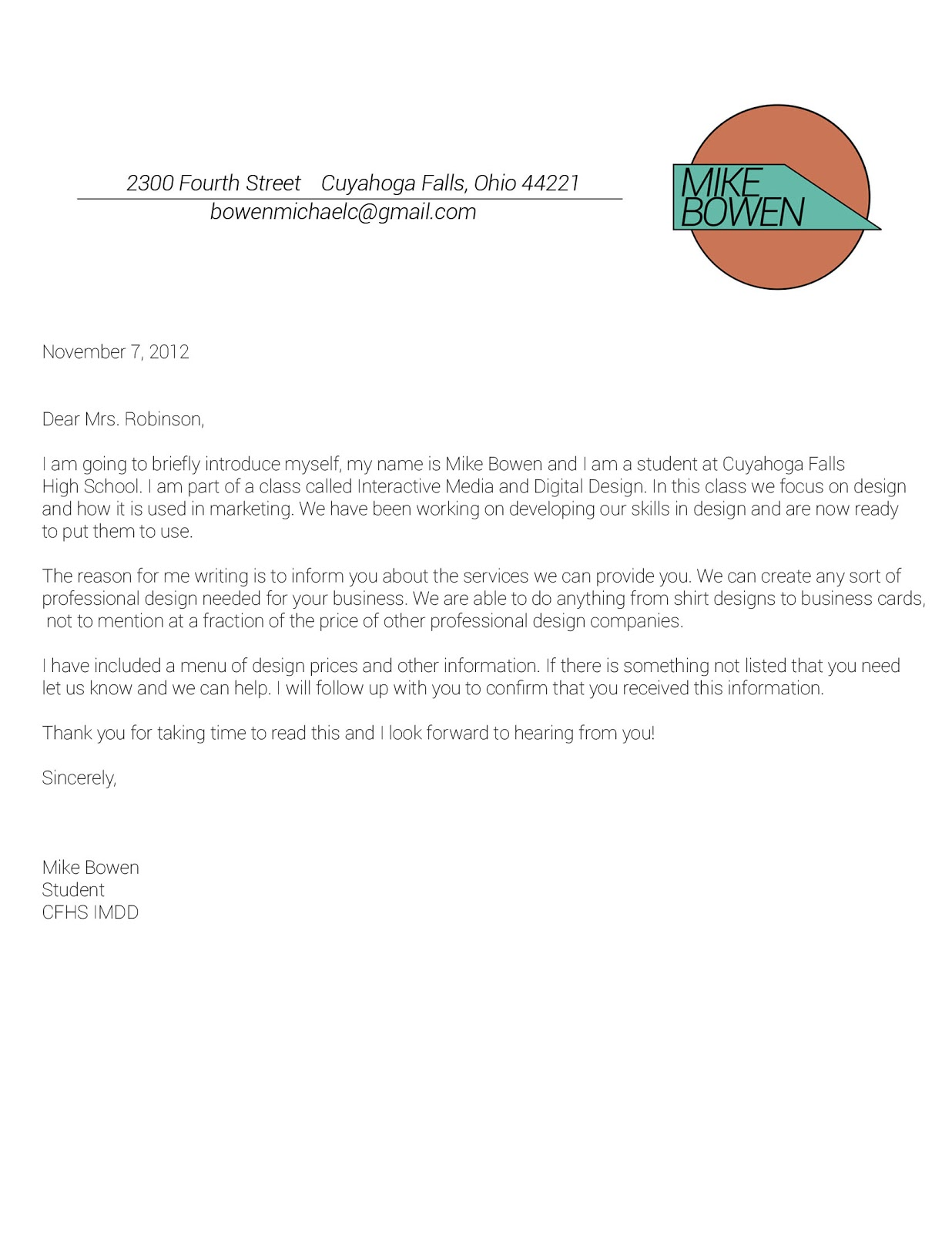 Sample business letter with logo accmission Choice Image