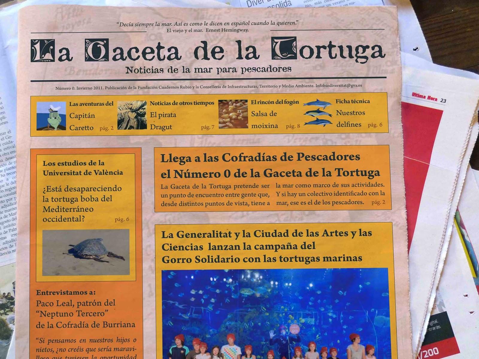 periódicos y la Gaceta de la tortuga