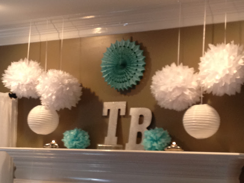 Cute Wedding Shower Decorations : Musings of a middle aged mom cute wedding shower mantel decorations