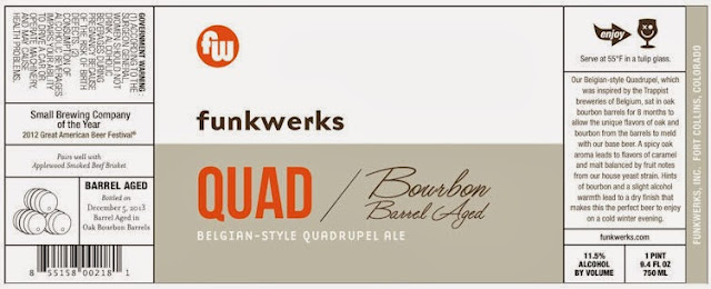 Funkwerks Bourbon Barrel Aged Quad
