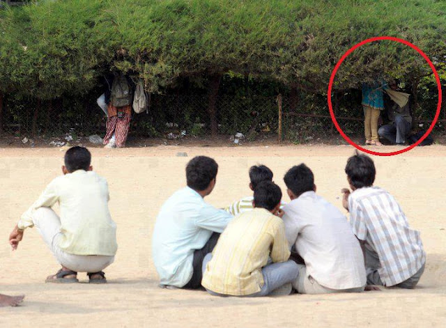Tera Deedar Huwa, Romantic People from India having Romance in Public