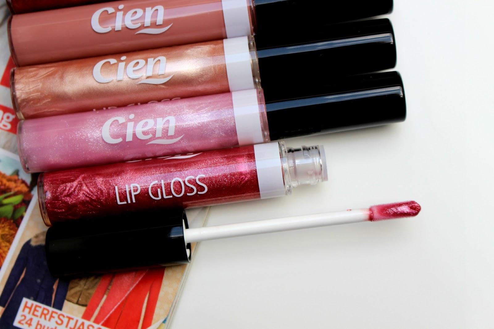 Cien lipgloss herfst collectie