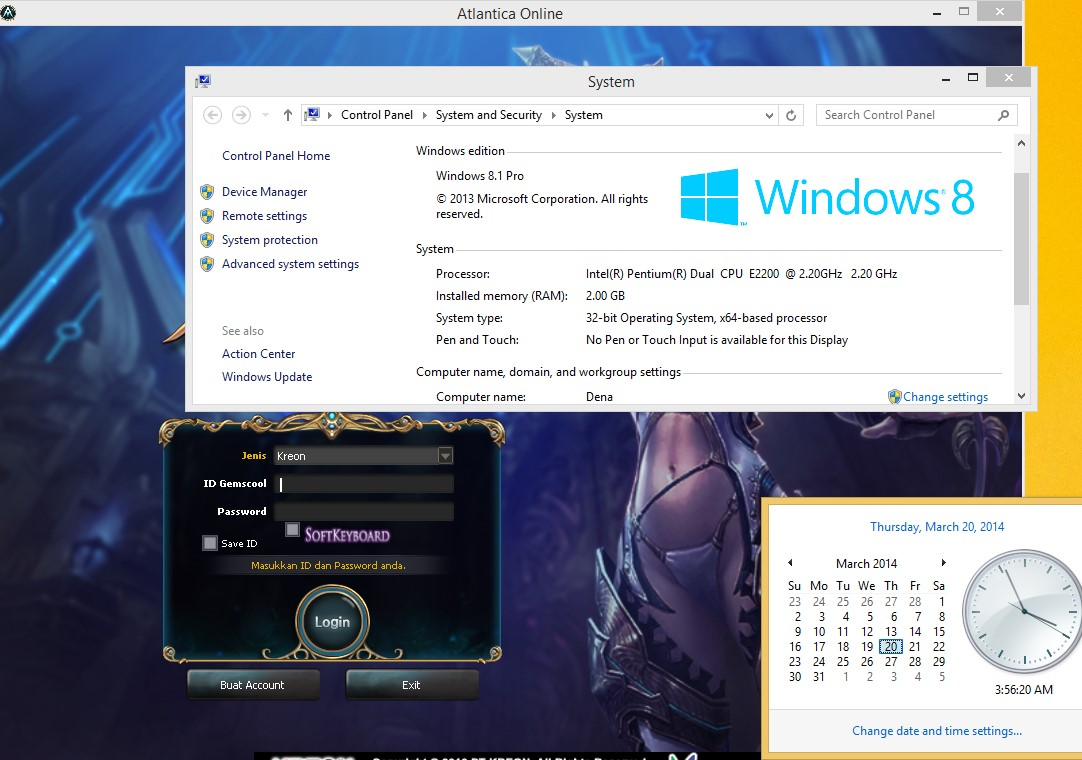 Run atlantica Online win 8.1