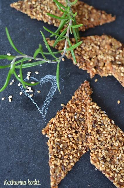Cracker Reis Quinoa Sesam Rosmarin Meersalz
