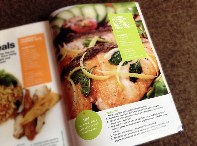 livewell magazine healthy pan seared salmon salad recipe