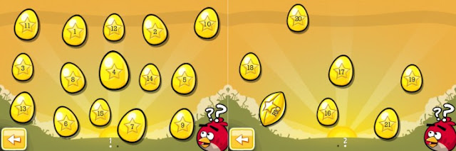 Angry Birds Golden Eggs Selection Screens with Numbers 730x243 Angry Birds: Localização de todos os Golden Eggs [atualizado 2x]