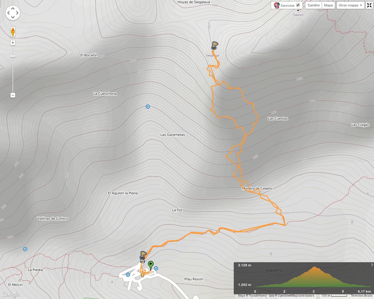 Ruta Tuiza Siegalava: Mapa de la ruta