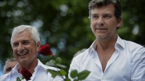 Montebourg et Bartolone prônent l'unité derrière l'exécutif à la Fête de la Rose