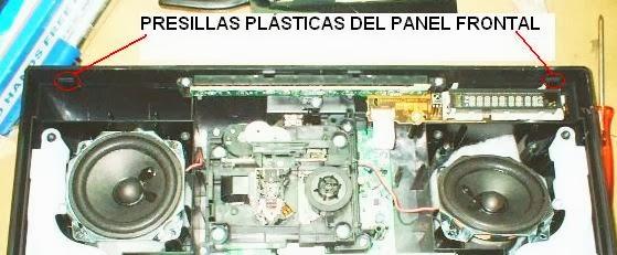 presillas plásticas del componente de audio panasonic sc-hc27