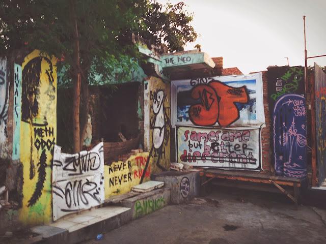 Street Art of Yogyakarta along Jalan Prawirotaman- same same but better