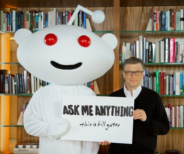 Bill Gates Talks With Reddit Users On Microsoft
