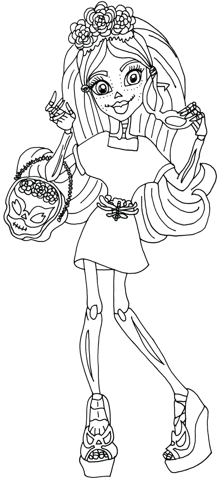 Amazing image with regard to free printable monster high coloring pages