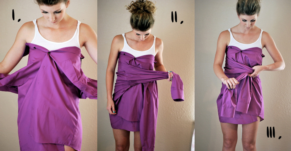a sigh and sanity: DIY dress....No Sewing Required!