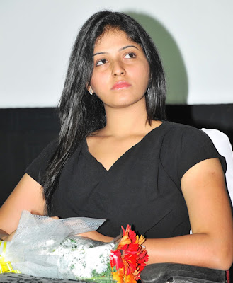 Anjali Hot in Black at Maharaja Audio Relese Photos
