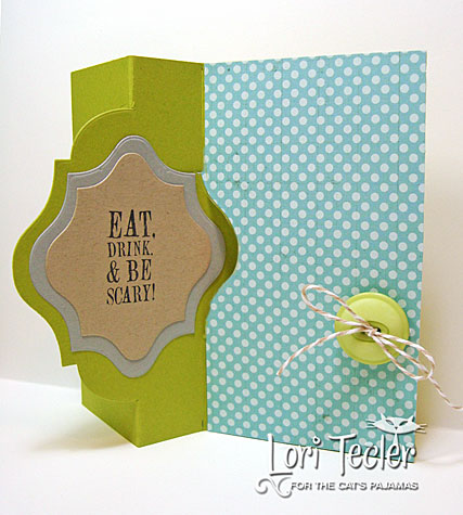 Eat Drink and Be Scary Fancy Flip card-designed by Lori Tecler/Inking Aloud-stamps and dies from The Cat's Pajamas