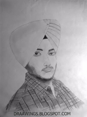 Maninder Pal Singh Self Sketch