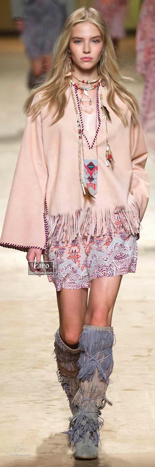 Tendências moda primavera-verão 2015 étnico