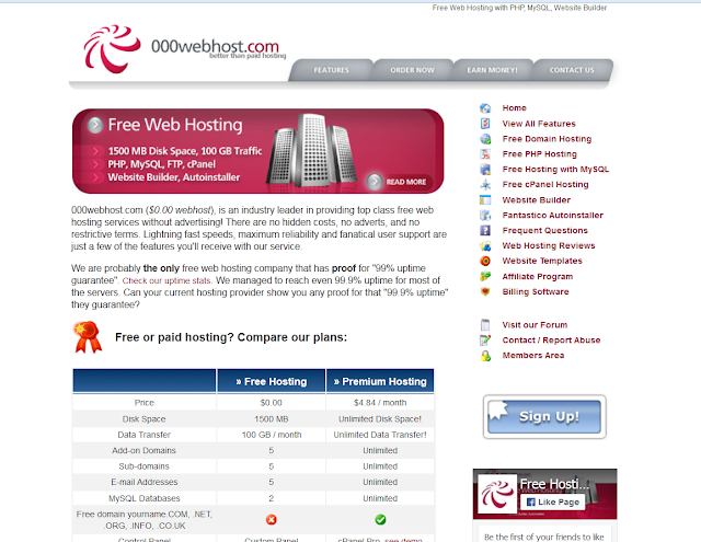review of 000webhost site