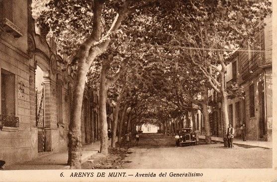 Arenys de Munt un tram de la Riera als anys 40