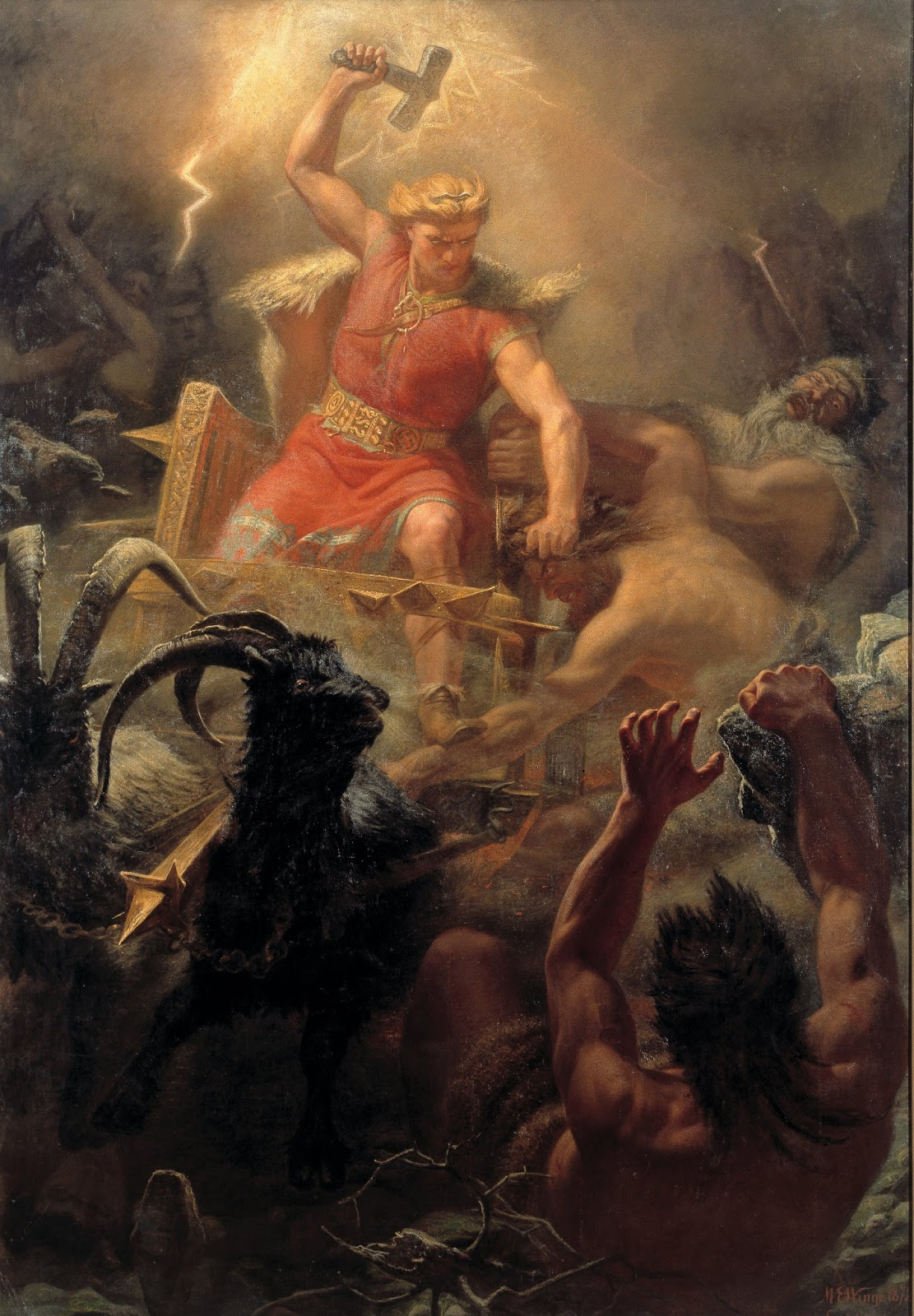 "Pagan Place: Pagan Art: ""Thor's Fight with the Giants"" by Marten ...: pagan-place.blogspot.com/2013/02/thors-fight-with-giants-by-marten..."
