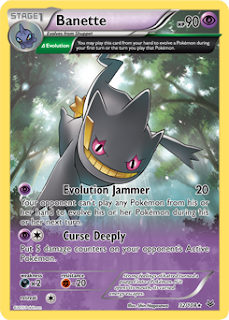 Banette Roaring Skie Pokemon Card