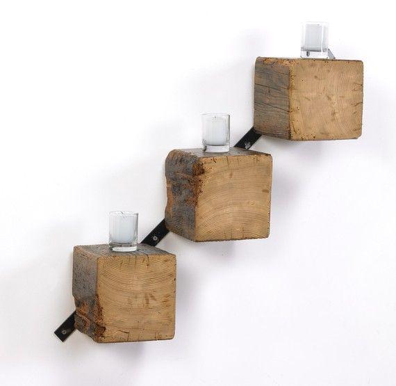 Preteleira de sobras de madeira