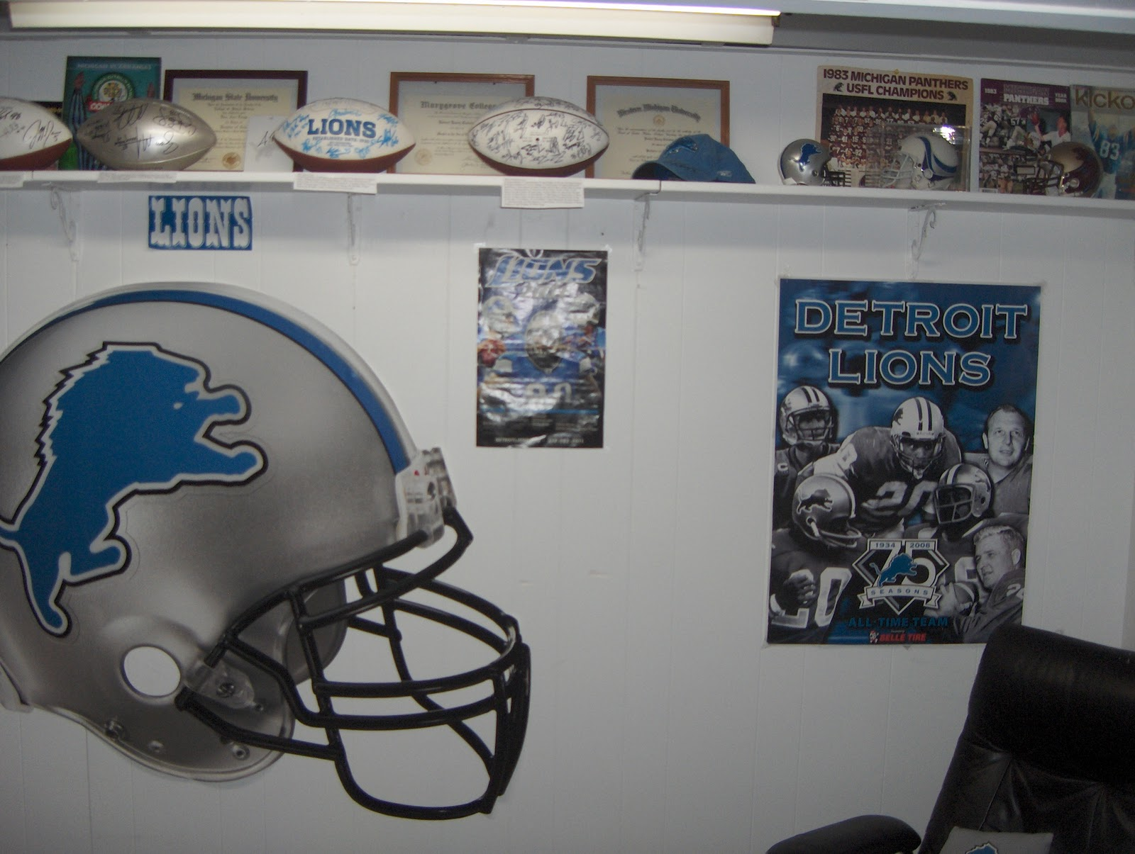 Detroit Lions Man Cave Ideas : Best our new sports room man cave images