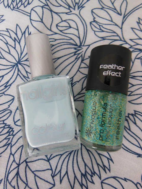 Nails Inc feather effect polish dupe - InVogue polish and Nail girls polish