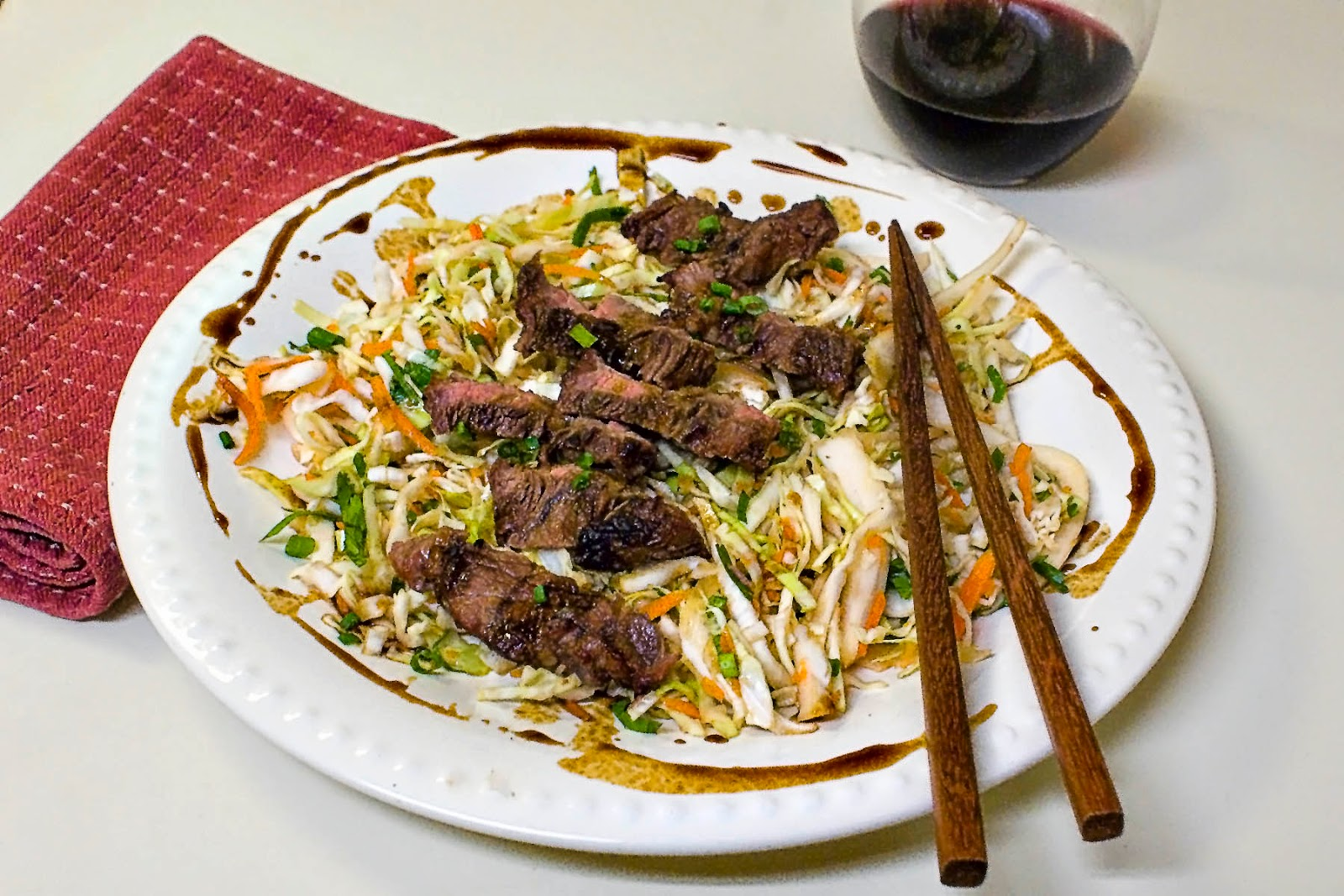 Vietnamese Grilled Steak Salad with Cabbage and Peanuts