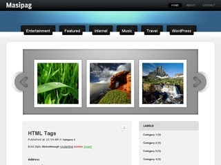 Masipag Blogger Template