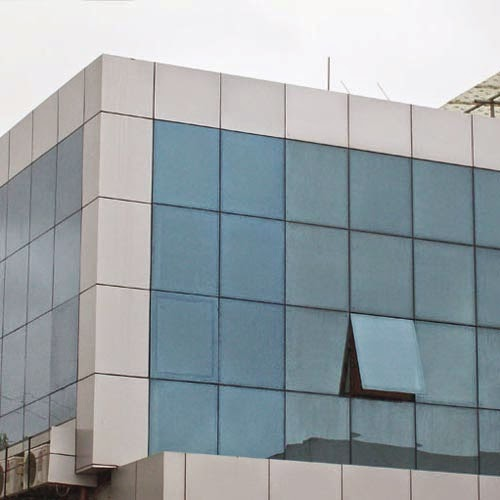 Acp Cladding Details : Khan acp cladding and structural glazing