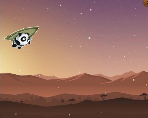 Jogo de Panda. Flying Panda flash game, o panda voador.