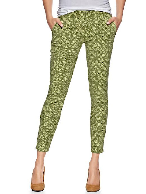 printed skinny trousers