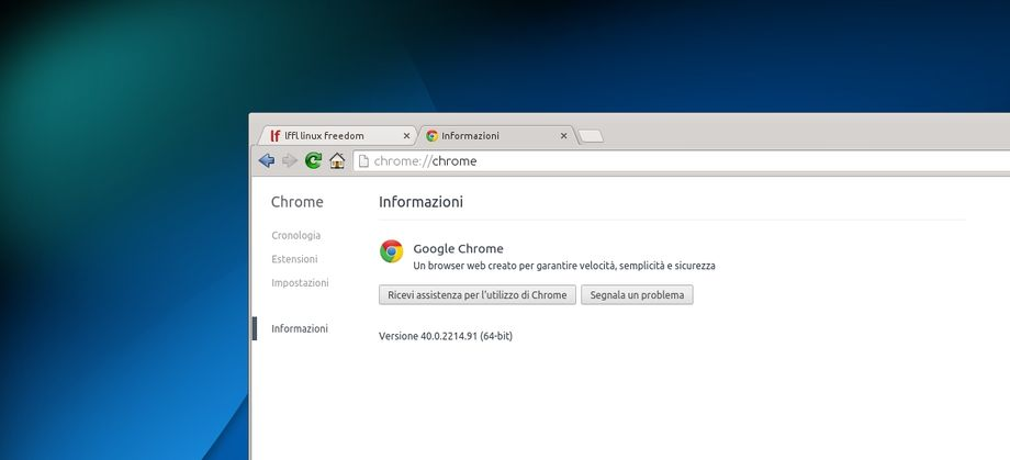 Google Chrome 40 in Linux