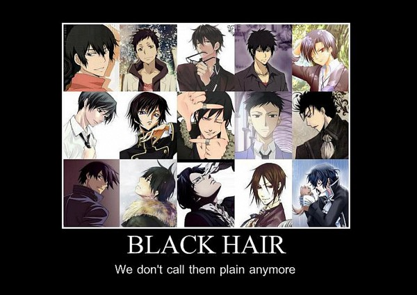 famous anime characters with black hair male models picture