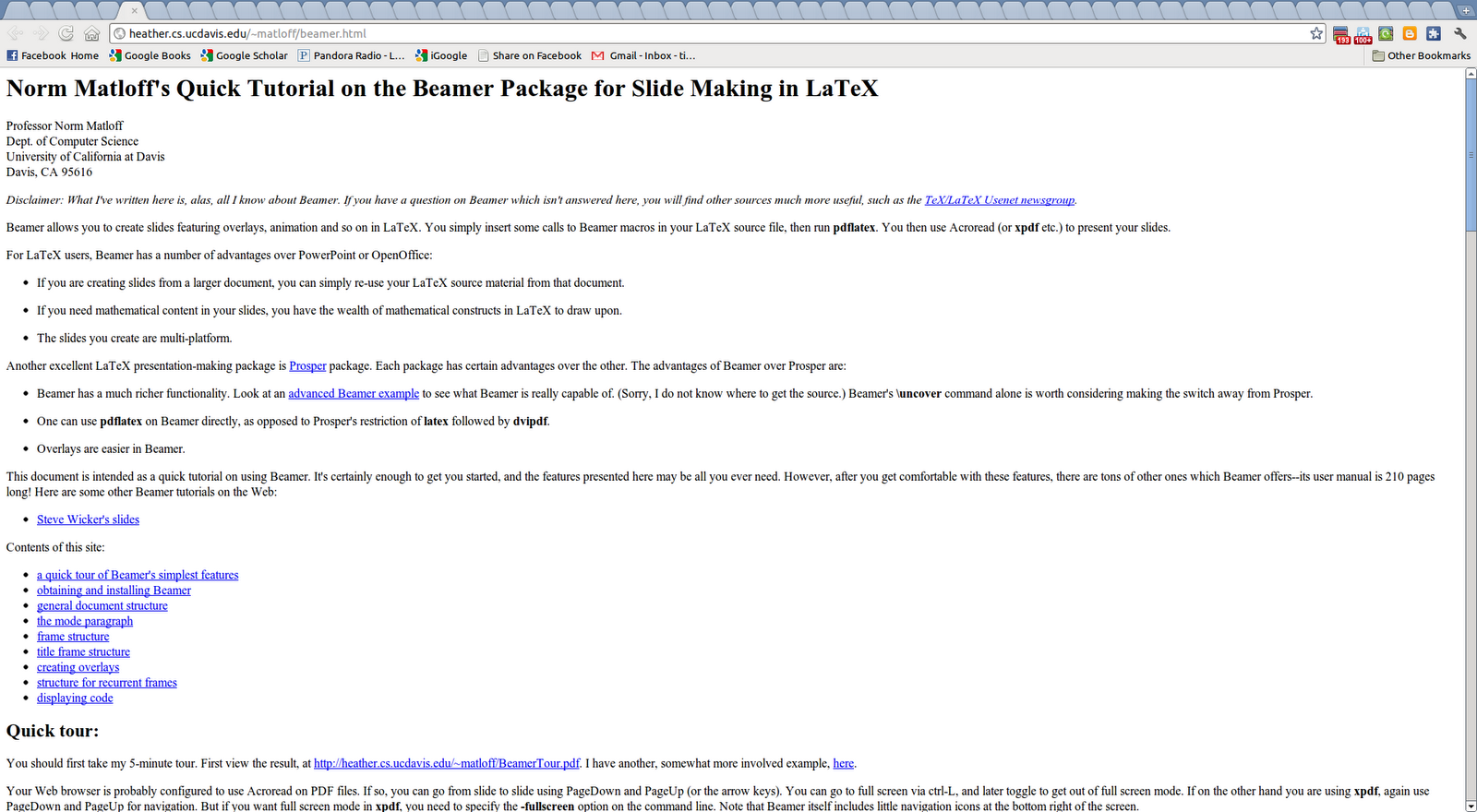 latex beamer package download