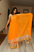 Midhuna New photo session in Saree-thumbnail-18