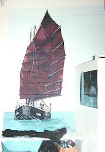 Windsurfer Shop Mural