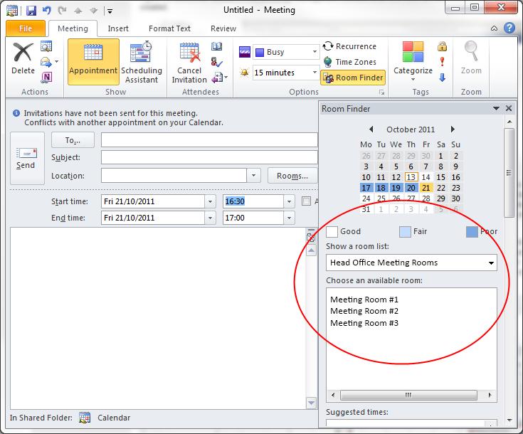 Outlook Meeting Invite as amazing invitation design