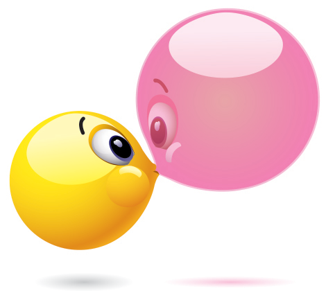 Bubble kiss emoticon
