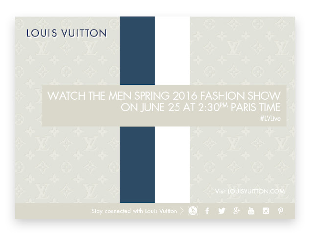 Livestream Deets for Louis Vuitton's Men's SS16 Show Today!