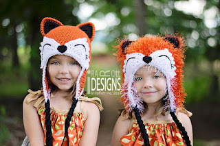 MOXIE AND ROXY THE RED FOREST FOXES ANIMAL HAT PDF CROCHET PATTERN