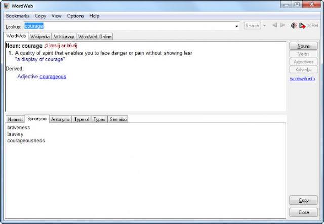 WordWeb 6.8 - Interface
