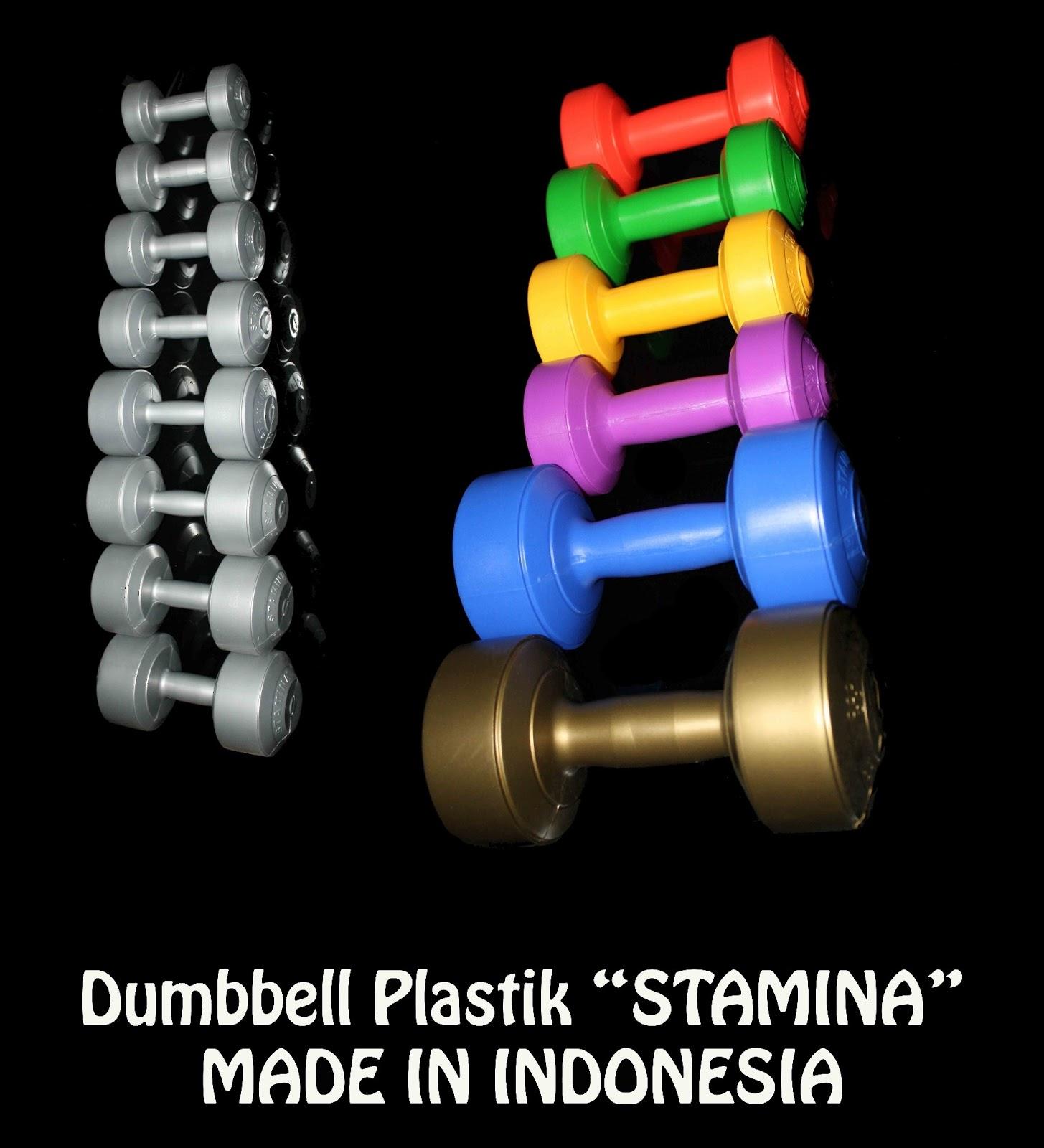 Dumbbell Plastik Stamina Murah Berkualitas Sporting Equipment Baarbeel 5kg