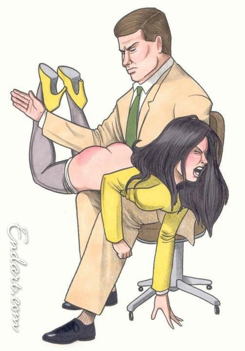 Combo!! spank office cartoon shes fucking