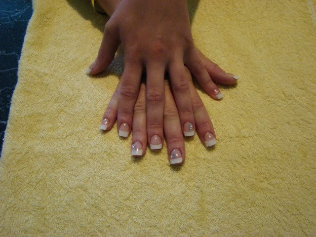 French-White-Tips-with-embedded-silver-Mylar-hearts-and-swarovski-crystal-feats