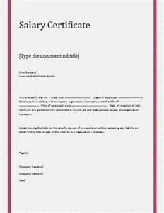 salary certificate letter format picture