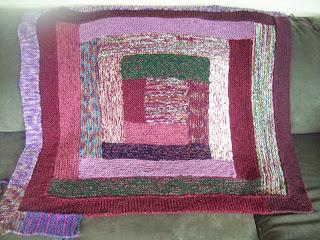 log cabin to 10 stitch blanket